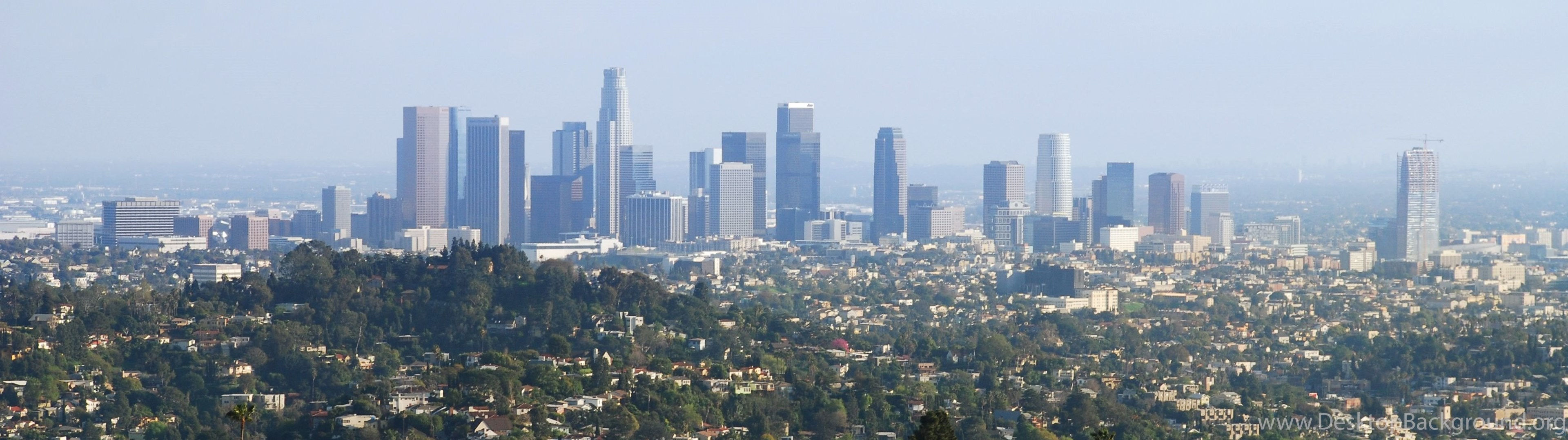 Los Angeles From The Helipad Travel Wallpapers And Stock Photo Desktop Background