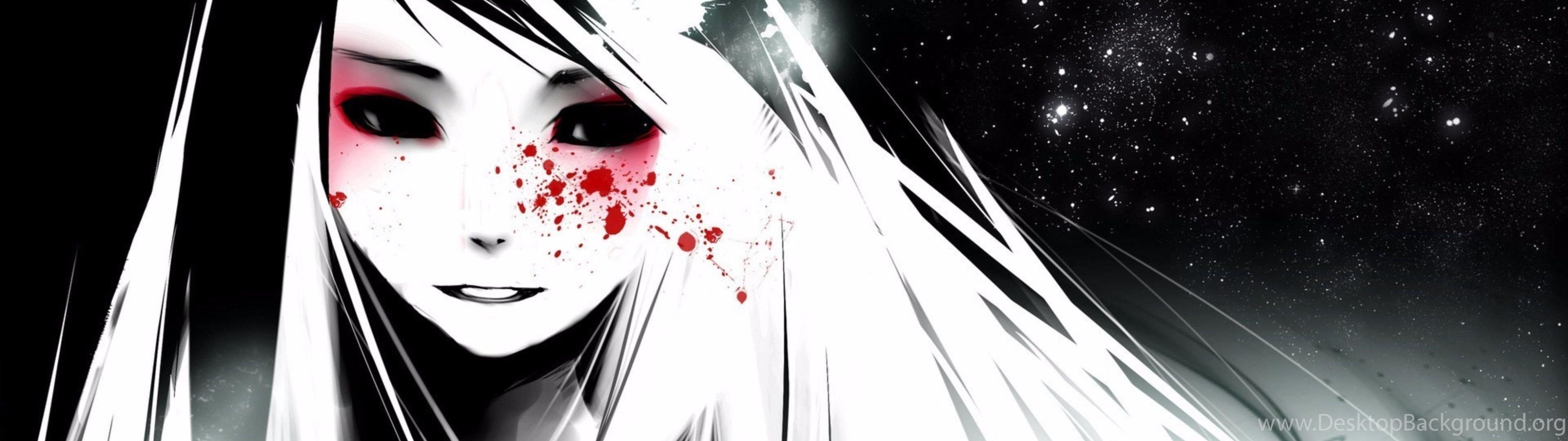 Red Tears 4K Anime Wallpapers Desktop Background