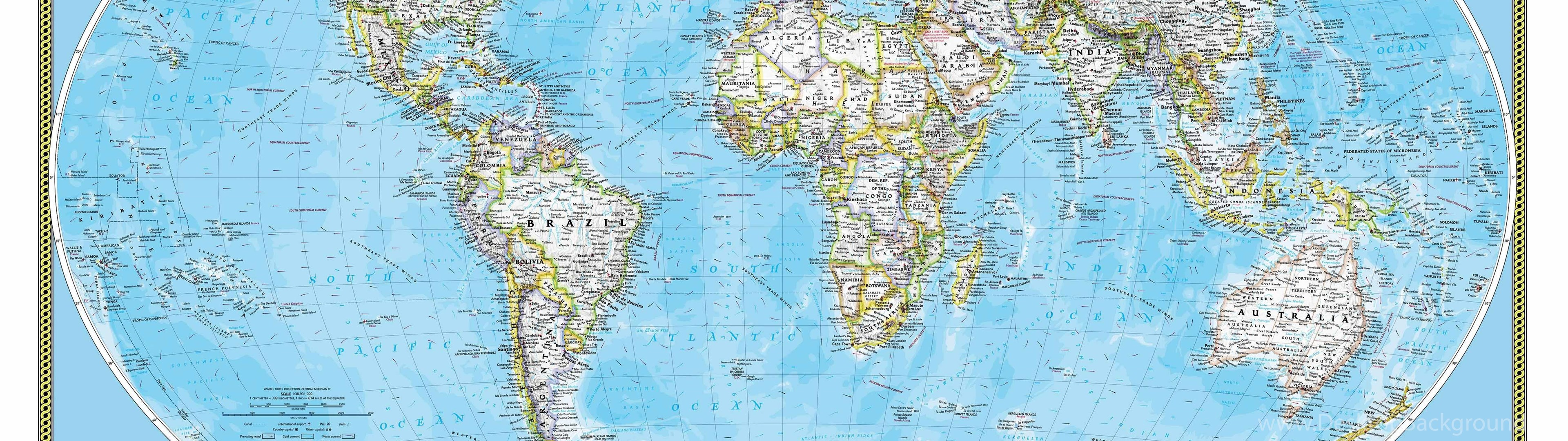 National geographic world map wall mural desktop background widescreen gumiabroncs Image collections