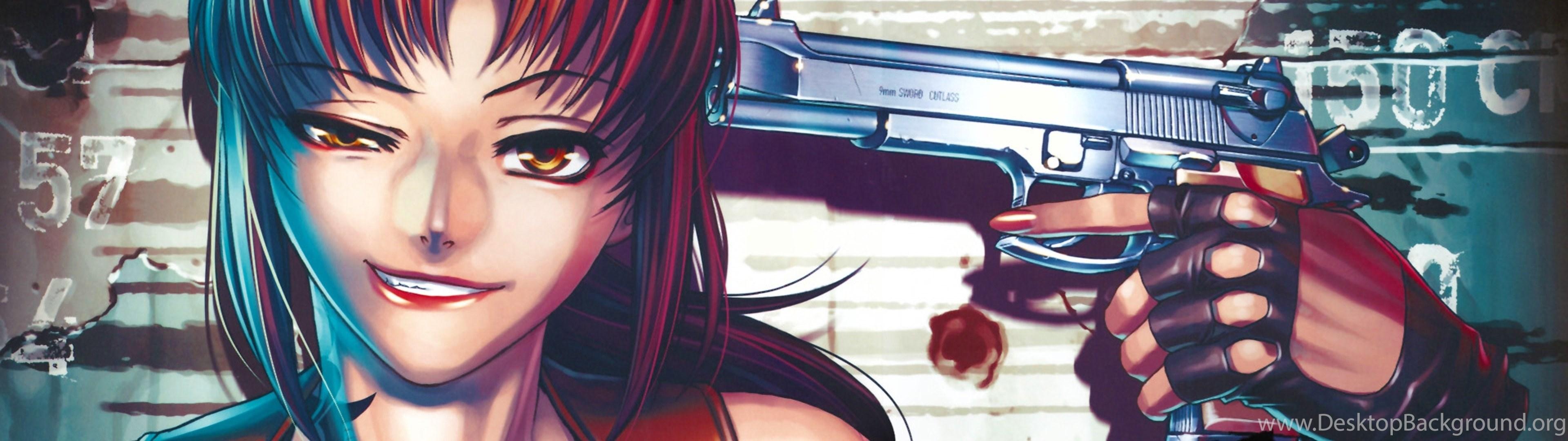 Anime Girls With Guns Wallpapers 3840x1080 Desktop Background