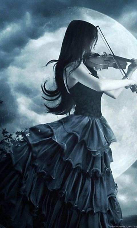 Gothic Violin Wallpapers Wallpaper Desktop Background