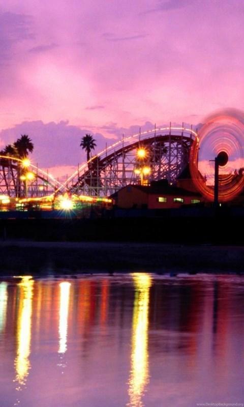 Boardwalk California Beach Cruz Summer Twilight Santa