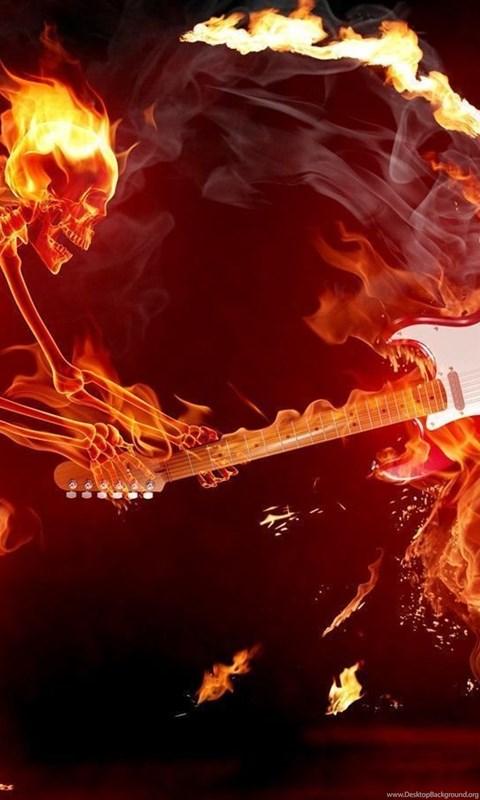 Flaming Skull Wallpapers Desktop Background