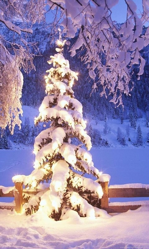 Christmas Landscape Desktop Wallpapers Beautiful Snow Pictures In HD
