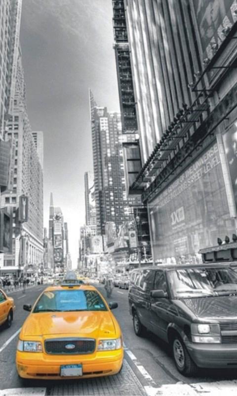 Wall Mural Non woven Wallpapers New York Taxi Yellow Cap Manhattan