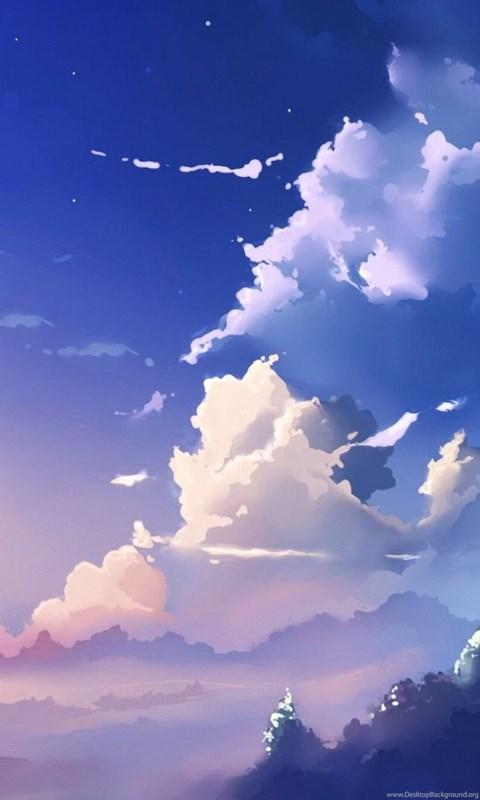 Anime Sky Scenery Cloud Scenery 05 Desktop Background