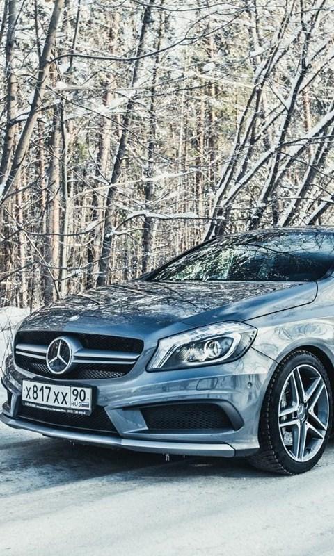 Mercedes Benz A45 Amg Car Winter Hd Wallpaper Get It Now