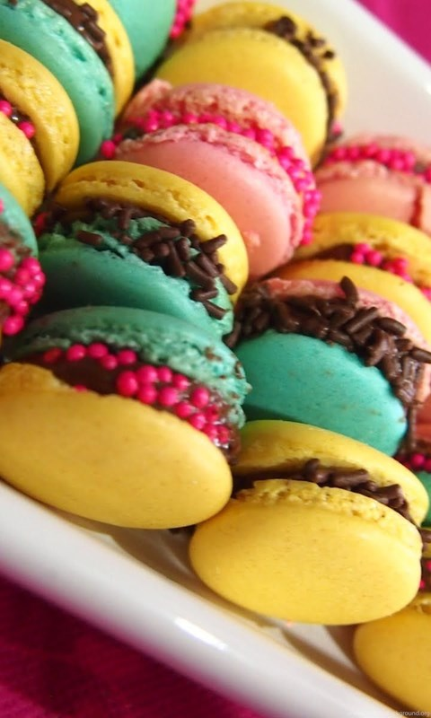 Colorful Macarons Wallpaper High Definition High Quality