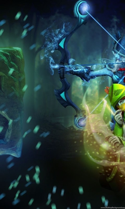 Download Wallpapers 1920x1080 Windrunner Dota 2 Drow Ranger Full