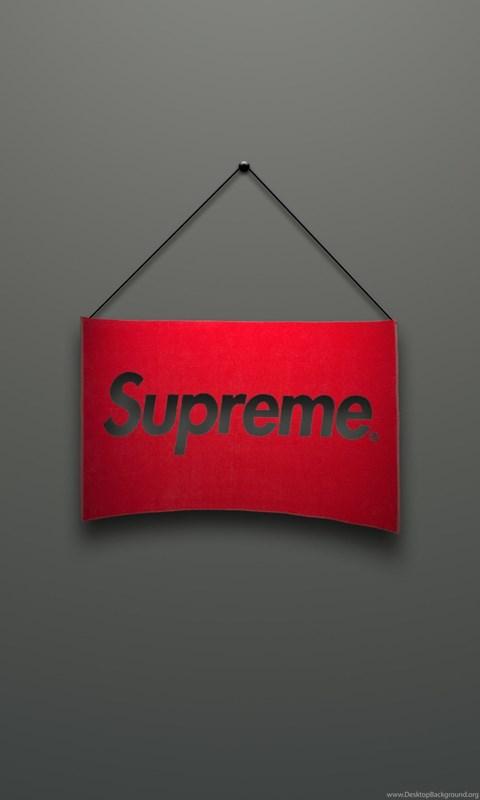 Download Wallpapers 3840x2160 Supreme Logo Red Minimalism
