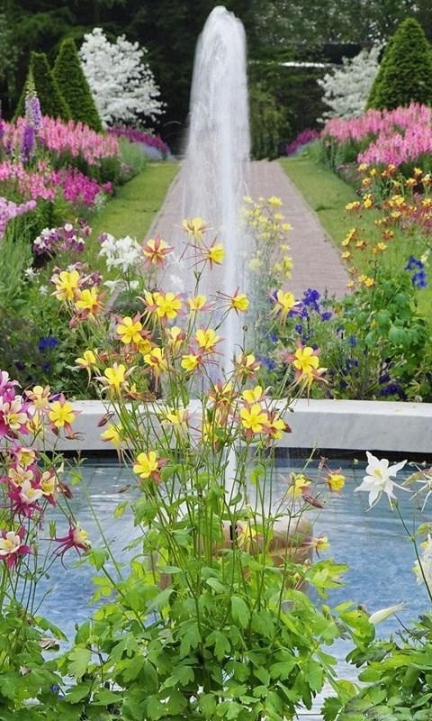 Gardens Wallpaper Flower Garden Design Hd Desktop Backgrounds