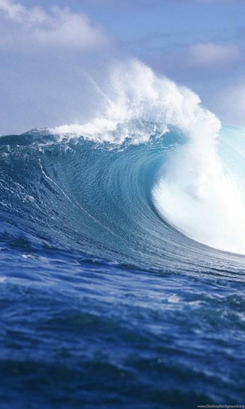 Ocean Wave Dual Screen Wallpapers Desktop Background