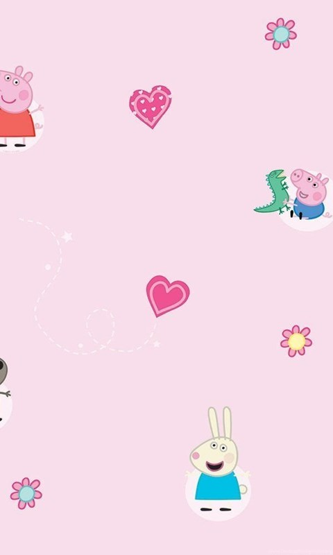 Decofun Peppa Pig Wallpaper Pink Amazoncouk Kitchen Home