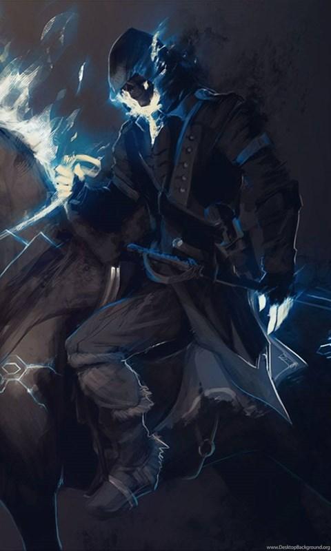 Assassin S Creed Ghost Rider Horse Fantasy Art Fire Dark