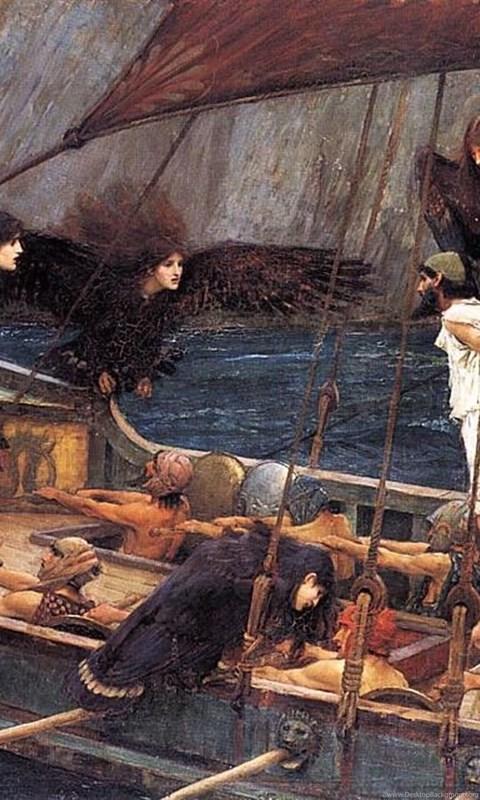 paintings ships sirens artwork john william waterhouse