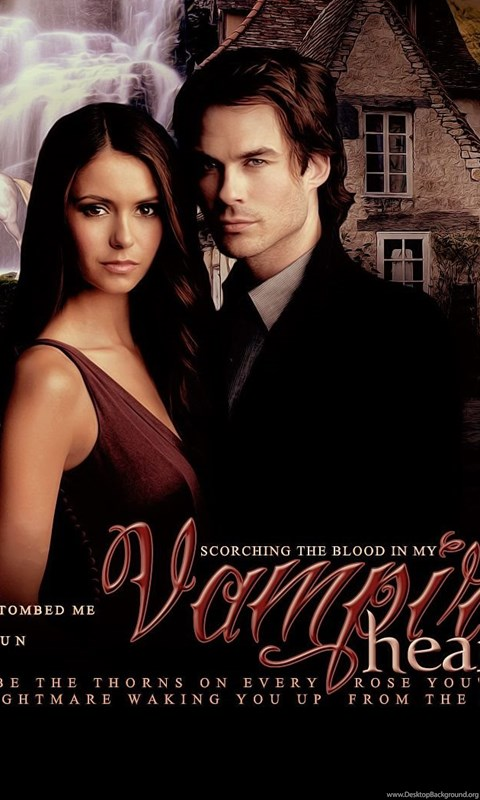 Delena the vampire diaries wallpapers 25389372 fanpop desktop android voltagebd Gallery