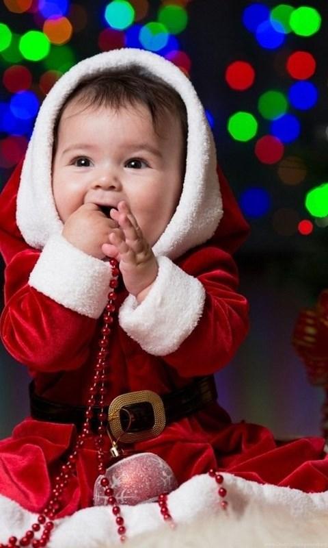 Cute Baby Boy Kids Christmas Wallpaper Desktop Background