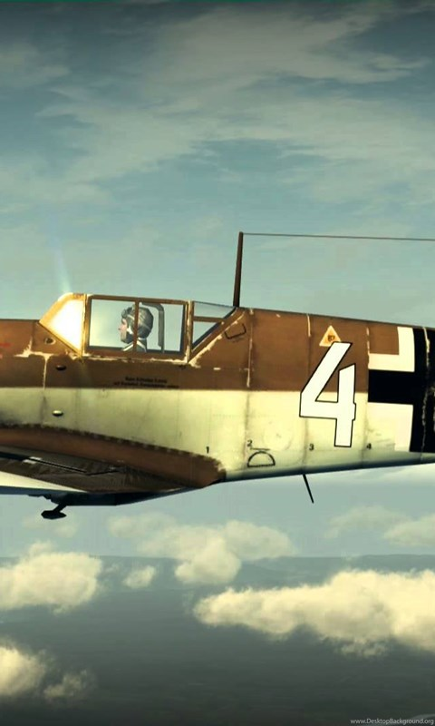Messerschmitt ME 109 Bf   + Sound + MG Sound YouTube Desktop Background