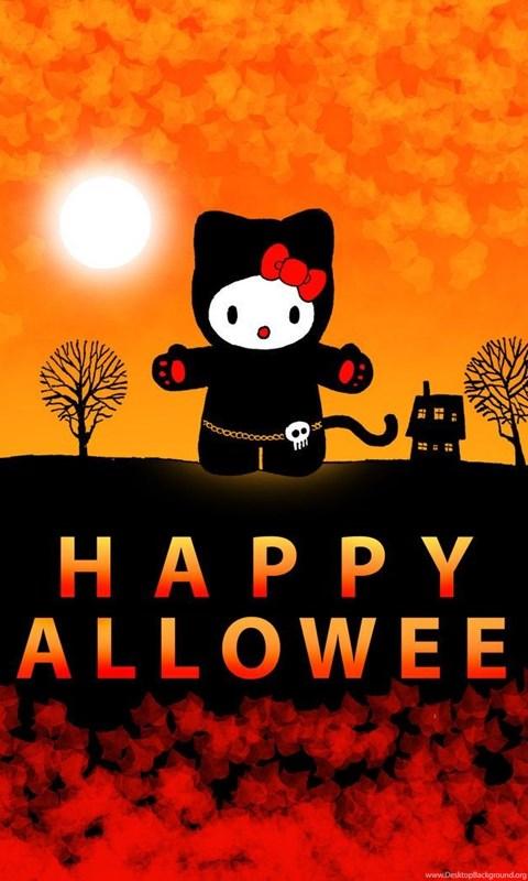 Hello Kitty Halloween By Kilroyart On Deviantart Desktop Background