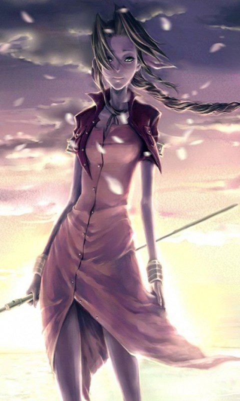 Women Final Fantasy Final Fantasy Vii Video Games Aerith Desktop Background
