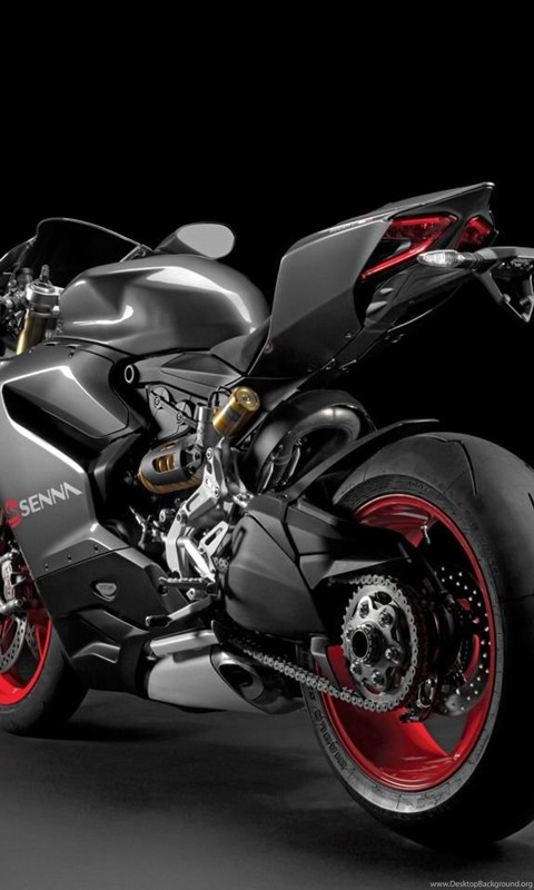 Black Ducati 1199 Panigale S Back View Wallpapers Desktop Background