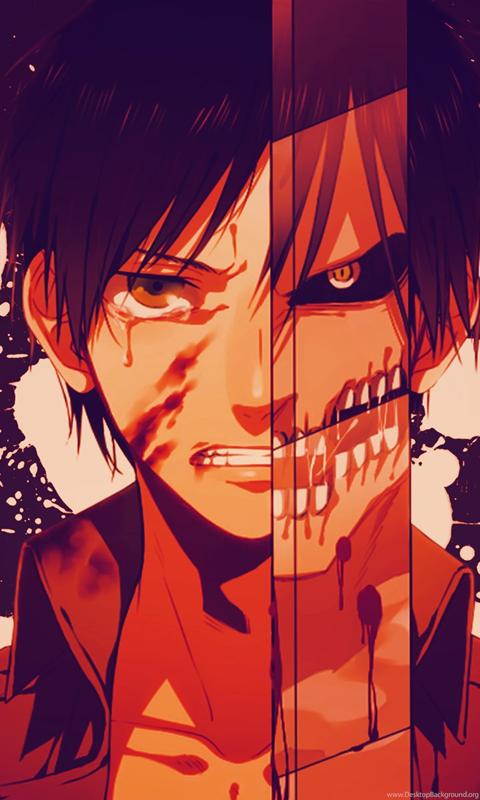 Anime Boys Eren Jeager Shingeki No Kyojin Paint Splatter