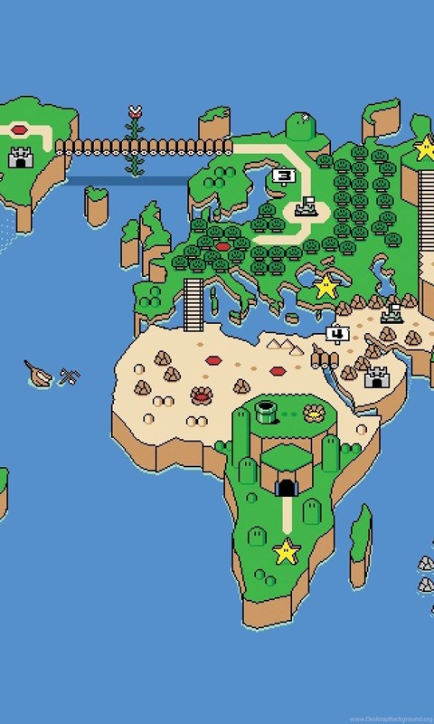 Super mario world world map wallpapers walldevil best free hd android gumiabroncs Images