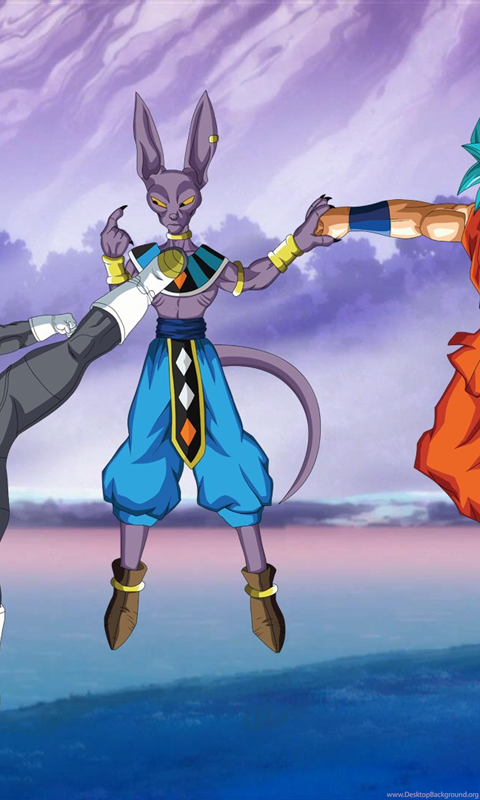Vegeta And Goku Ssgss Vs Lord Beerus Wallpapers By Eymsmiley On Desktop Background
