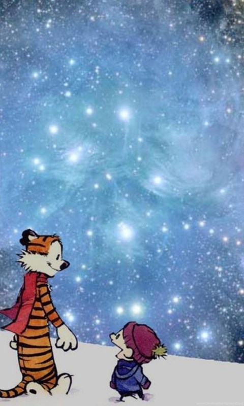 Snow Outer Space Calvin And Hobbes Wallpapers Desktop Background