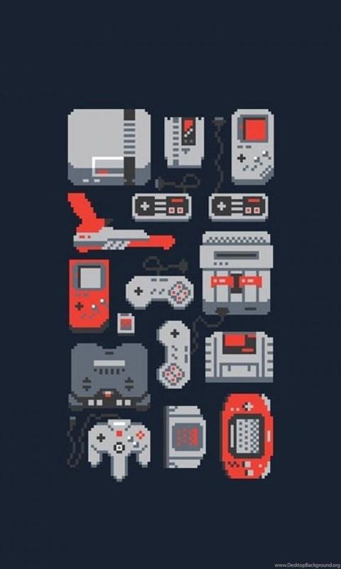 Oldschool Retro Games Nes 8 bit Wallpapers Desktop Background