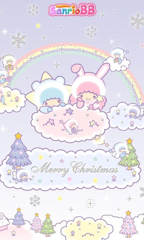 661757 sanrio little twins stars christmas wallpapers cute