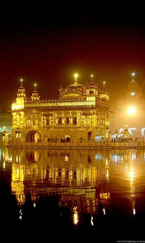 Wallpapers Golden Temple The At Night Amritsar Free India Top