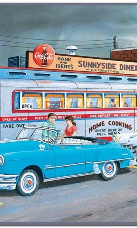 Days Gone By, 50's Wallpaper,grocery Wallpaper,cars