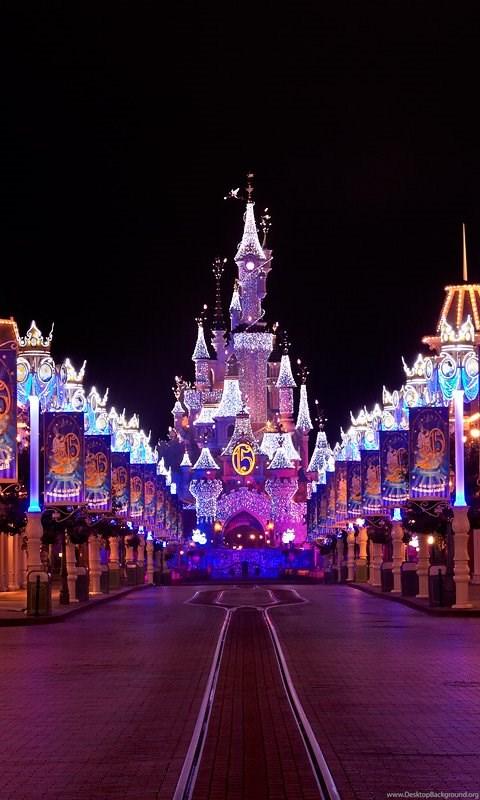 Beautiful DisneyLand Paris Christmas HD Wallpapers Desktop