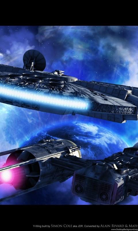 Millennium Falcon Spaceships Star Wars Y Wing Jpg Desktop Background