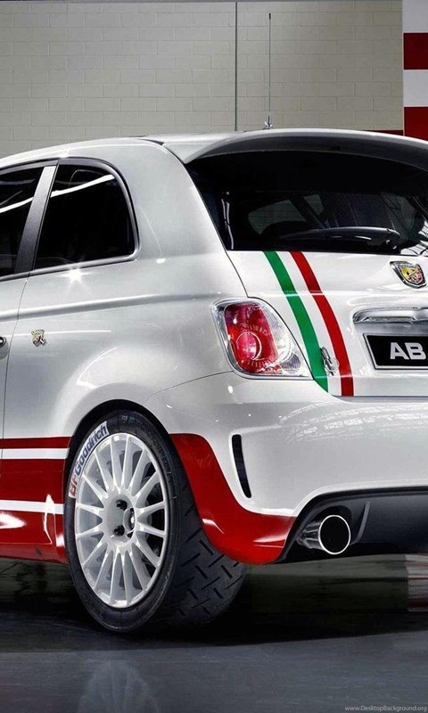 Abarth Fiat 500 Rally Rear Angle Wide Hd Wallpapers Desktop Background
