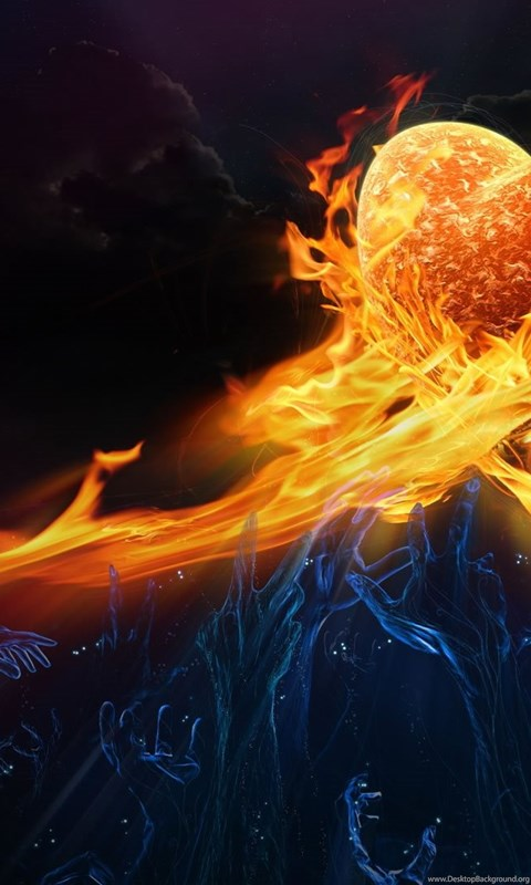 Wallpaperuniversity Com Flaming Heart Abstract 1080p