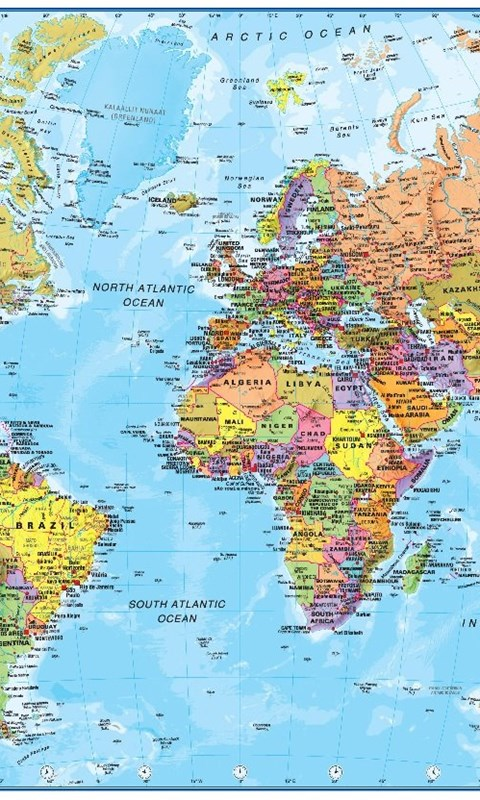 High resolution world map colorful wallpapers full size desktop android gumiabroncs Image collections