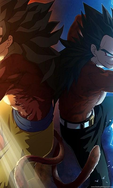 Images For Dbz Wallpapers Goku And Vegeta Ssj4 Desktop Background