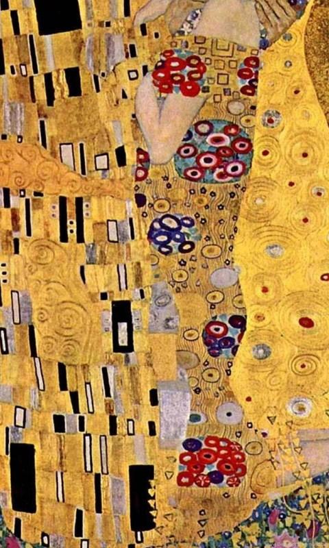 Klimt The Kiss Wallpaper GUSTAV KLIMT THE KISS ...