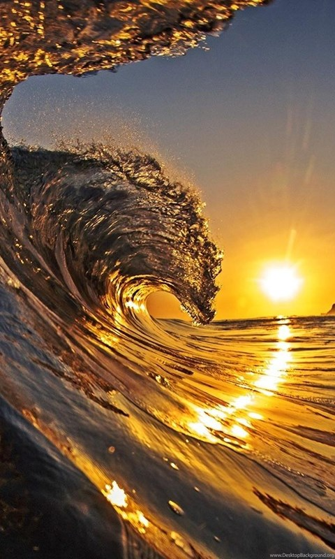 Sunset Surf Wallpaper,hawaii HD Wallpaper,beach HD ...