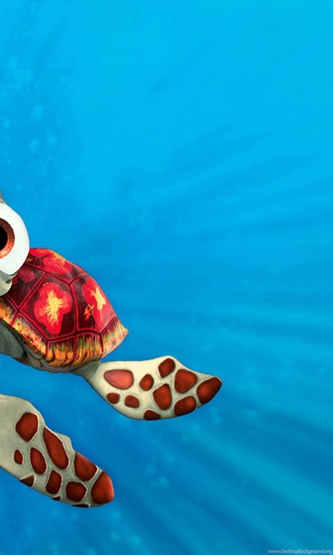 Finding Nemo Squirt Hd Wallpapers Ipod Cartoons Android Wallpaper Dinding