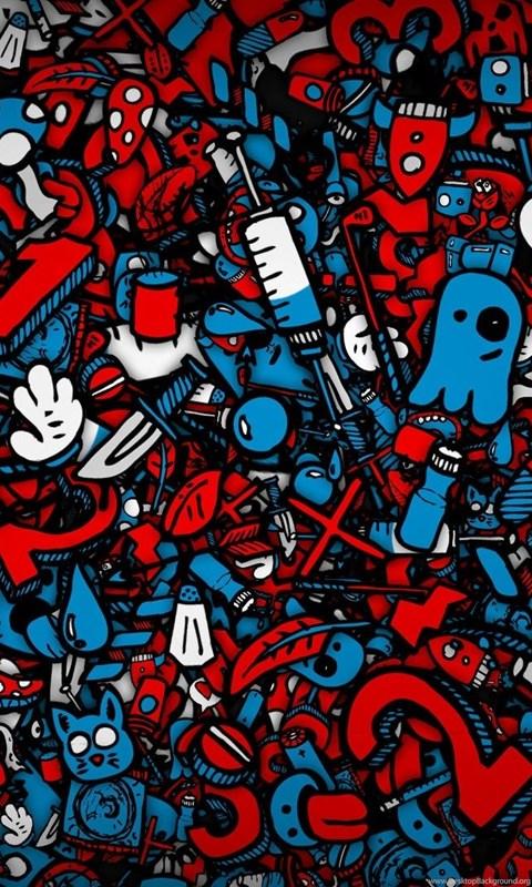 3d Wallpaper Red Blue Background Hd Download Red Desktop