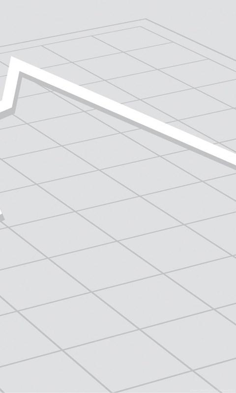 arrow graph over design powerpoint templates 3d graphics silver