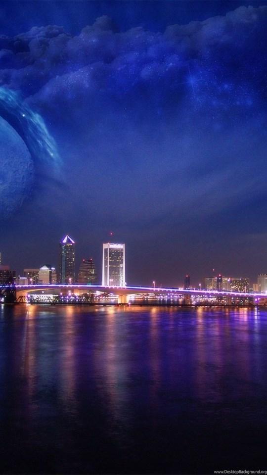 Windows 7 Night City Desktop Wallpapers Desktop Background