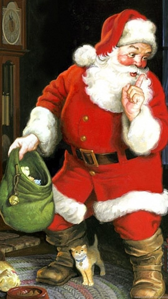 Beautiful Merry Christmas Santa Claus Hd Wallpapers Pictures