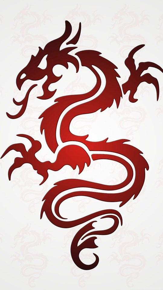 tribal red dragon tattoo wallpaper desktop background