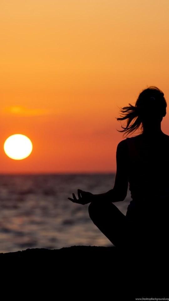 Meditation Silhouette Sitting Wallpaper Desktop Background