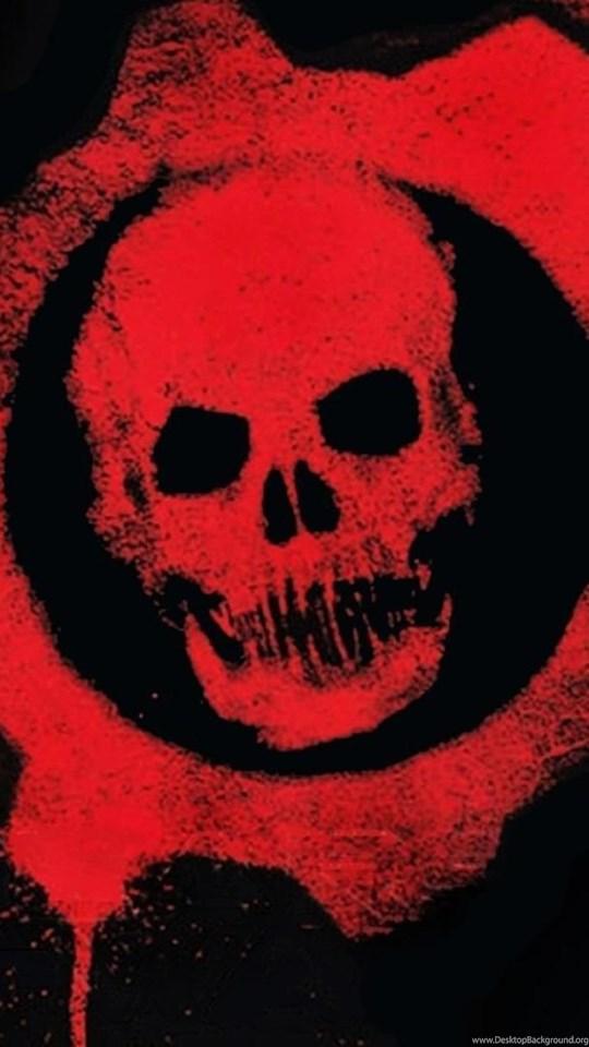 94925 games gears of war skull logo hd wallpapers