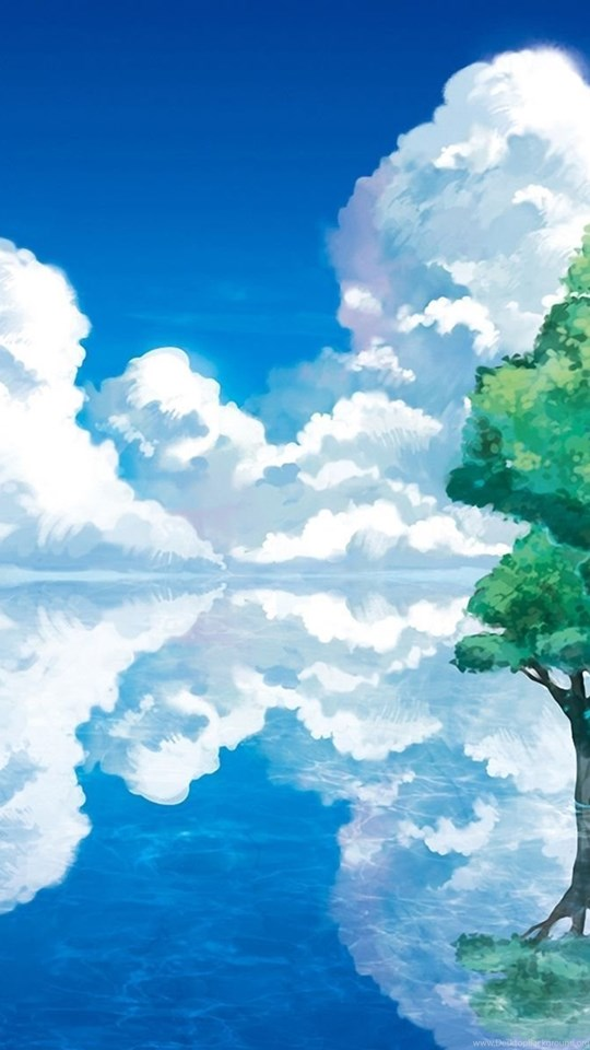 Blue Sky Anime Scenery Wallpapers Desktop Background